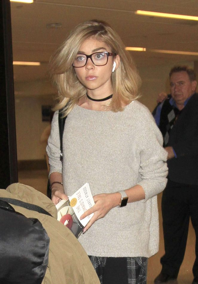 Sarah Hyland at LAX Airport in LA