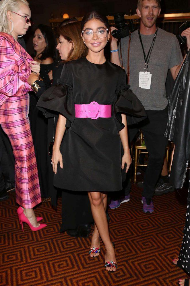 Sarah Hyland - Christian Siriano Fashion Show in New York