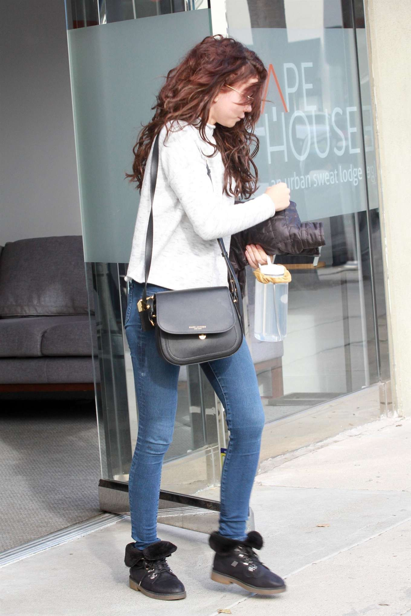 Sarah Hyland - Exit from Shape House day spa in West Hollywood