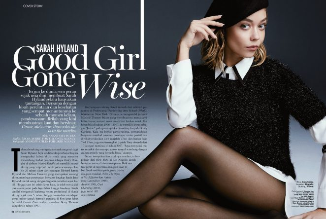 Sarah Hyland for Marie Claire Magazine (November 2016)