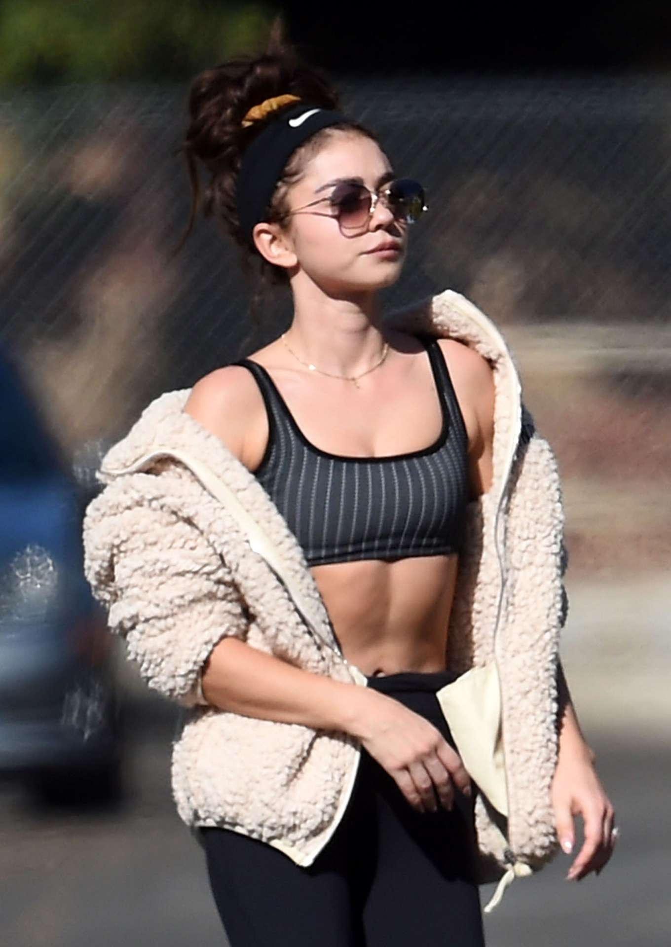 Sarah Hyland 2019 : Sarah Hyland – Going to a yoga session in North Hollywood-06
