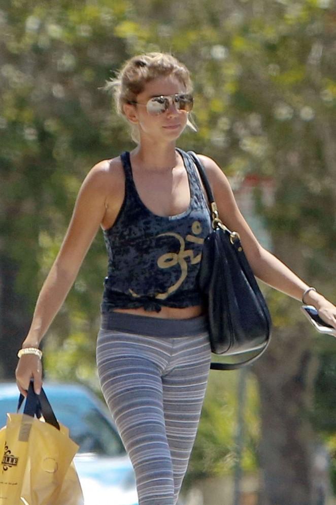 Sarah Hyland in Leggings out in LA