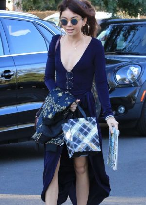 Sarah Hyland in Long Dress - Arriving to a party in Studio City
