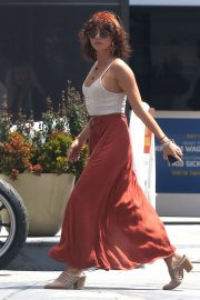 Sarah Hyland in Long Skirt - Out in Studio City