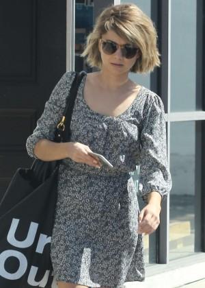 Sarah Hyland in Mini Dress Out in LA
