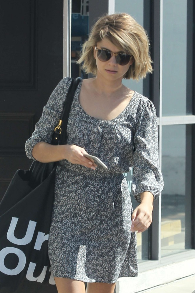 Sarah Hyland in Mini Dress Out in LA