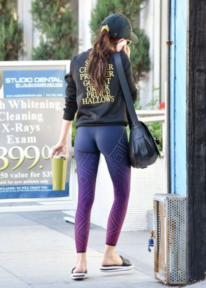 Sarah Hyland in Tight Leggings - Out and about in LA