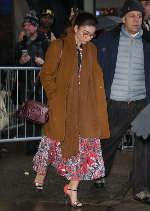Sarah Hyland - Leaves Good Morning America in NYC