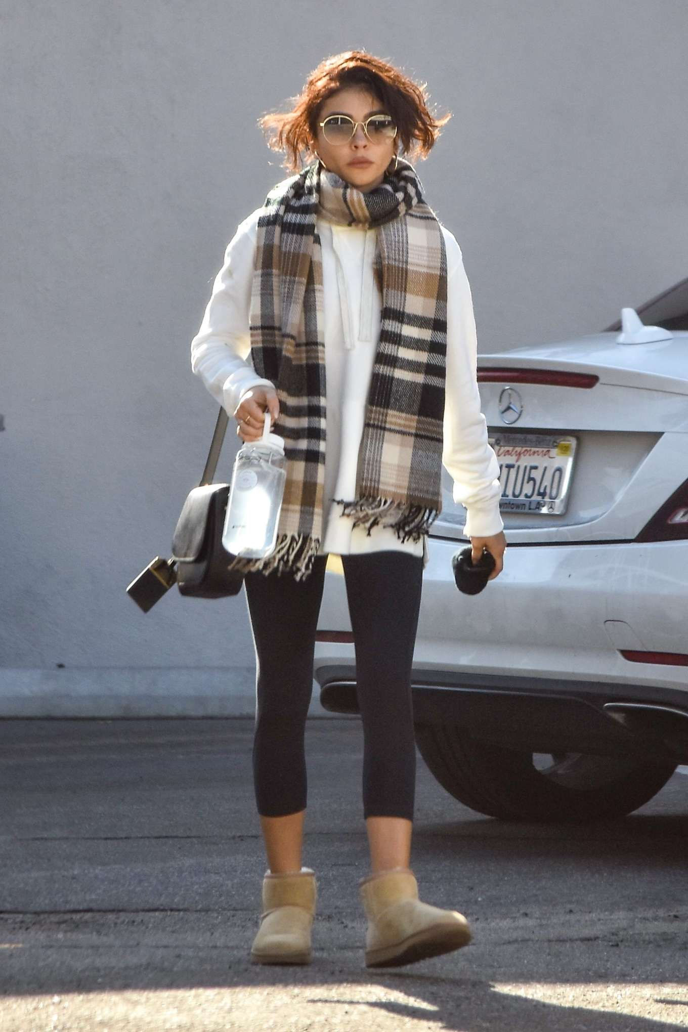 Sarah Hyland 2020 : Sarah Hyland – Leaves pilates session in Studio City-03