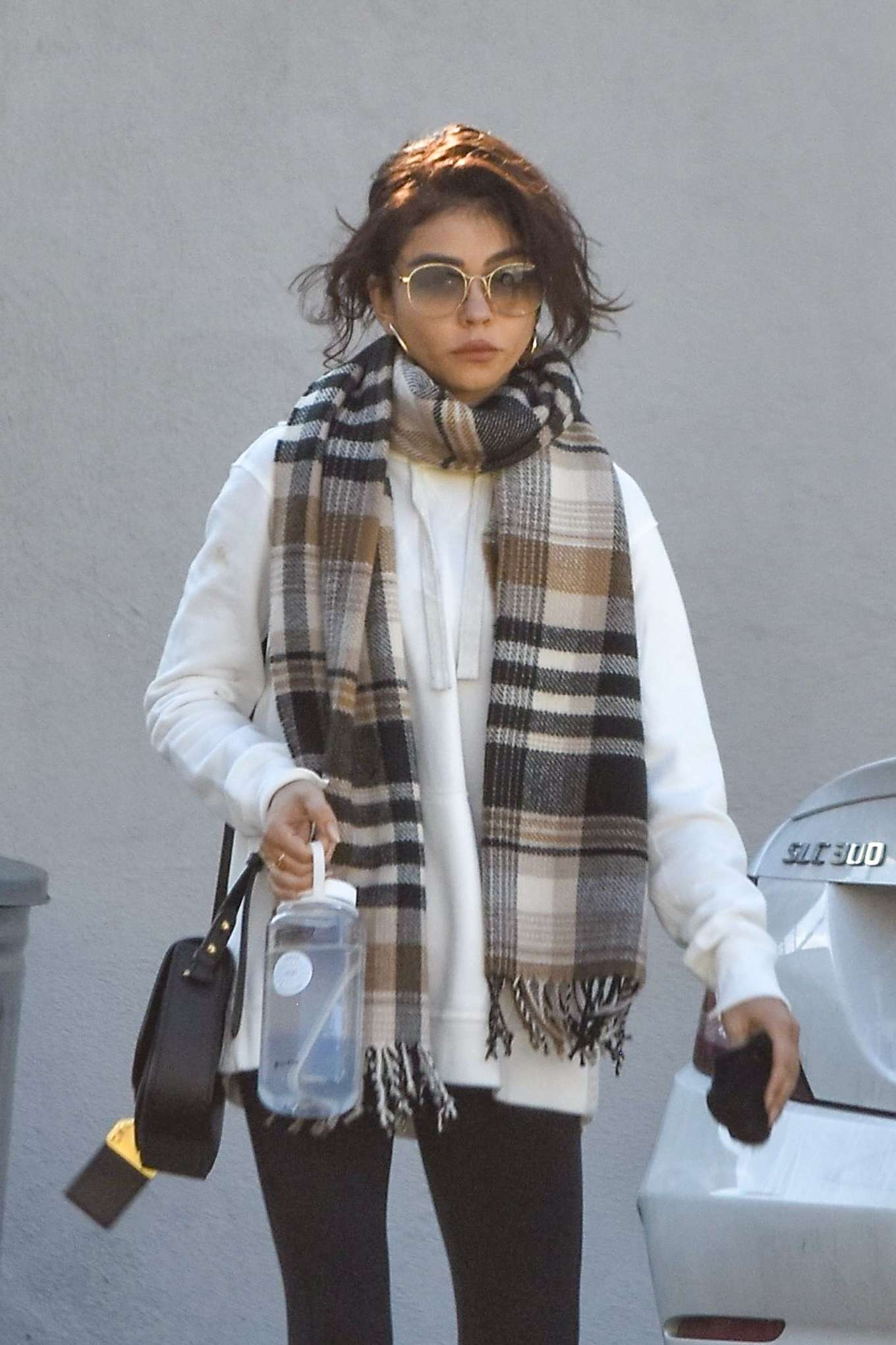 Sarah Hyland - Leaves pilates session in Studio City