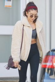 Sarah Hyland - Leaving a Pilates studio in Studio City