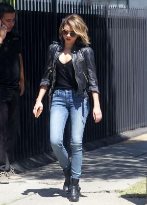 Sarah Hyland in Tight Jeans Leaving a studio in LA