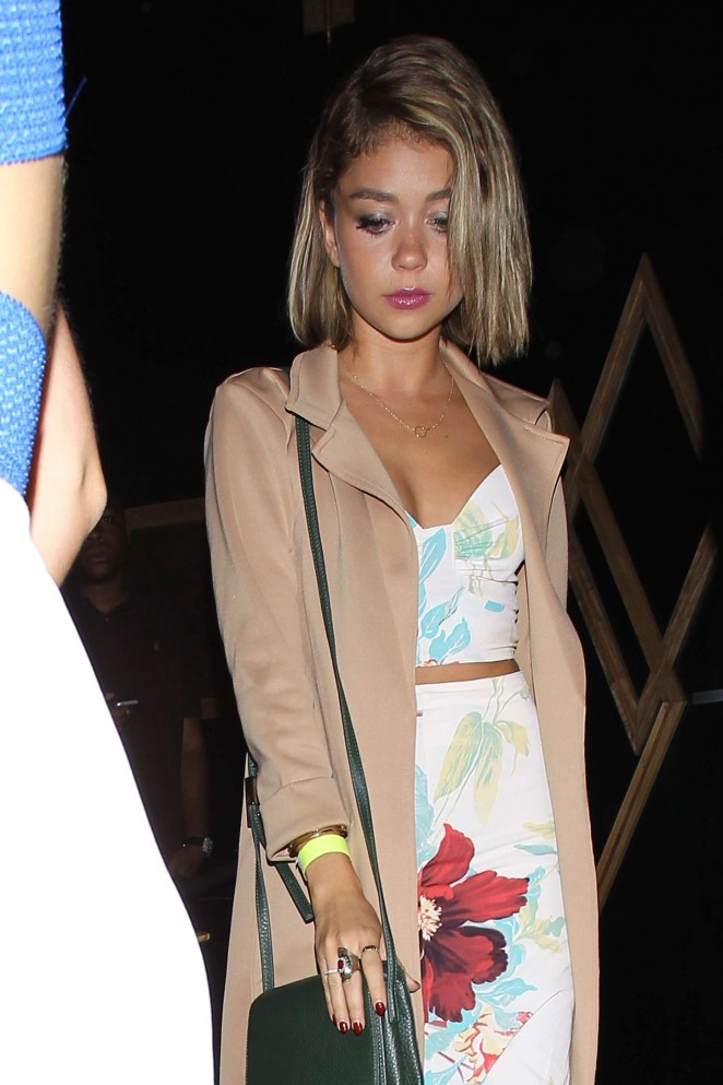 Sarah Hyland - Leaving Bootsy Bellows in Hollywood