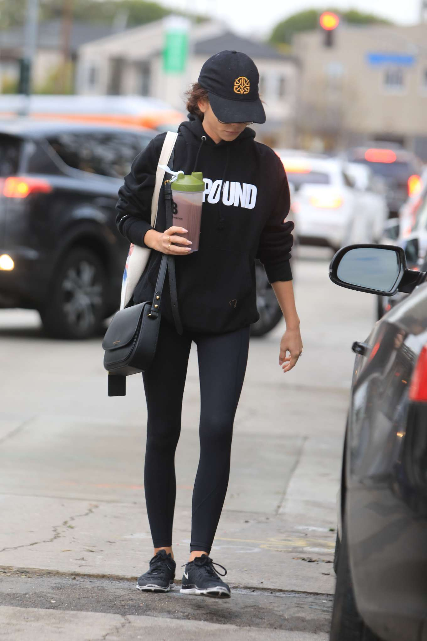 Sarah Hyland - Leaving Dogpound gym in West Hollywood