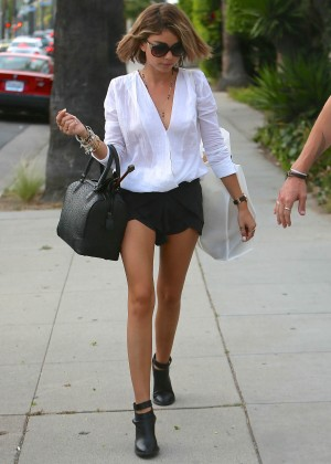 Sarah Hyland in Short Skirt out in LA