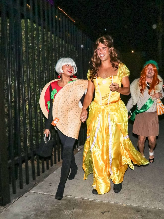 Sarah Hyland - Outside Just Jared's 7th Annual Halloween Party in LA