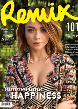Sarah Hyland - Remix Magazine Cover (December 2015)