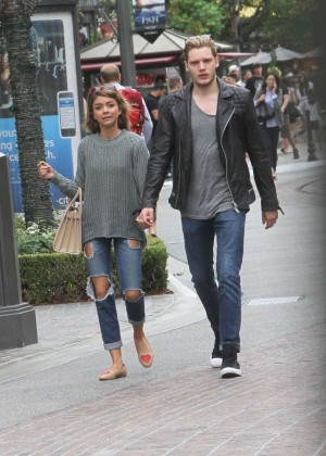 Sarah Hyland in Ripped Jeans Shopping in Hollywood