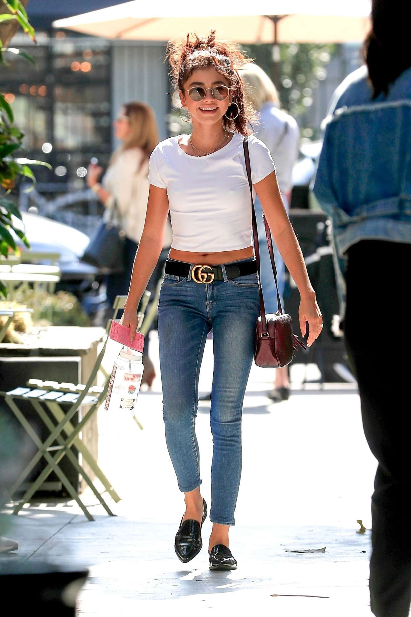 Sarah Hyland - Spotted as she runs errands in West Hollywood