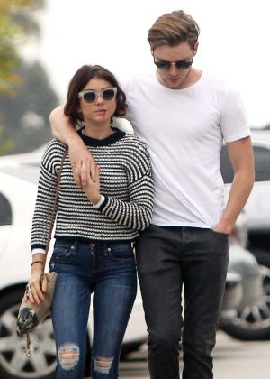Sarah Hyland with boyfriend out in Studio City
