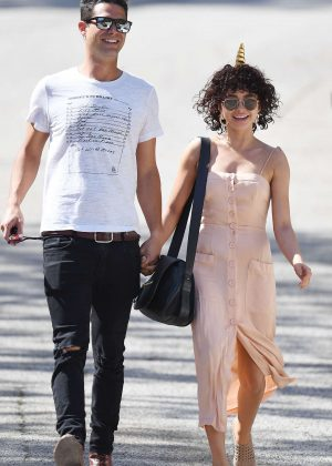 Sarah Hyland with her boyfriend out in Hollywood