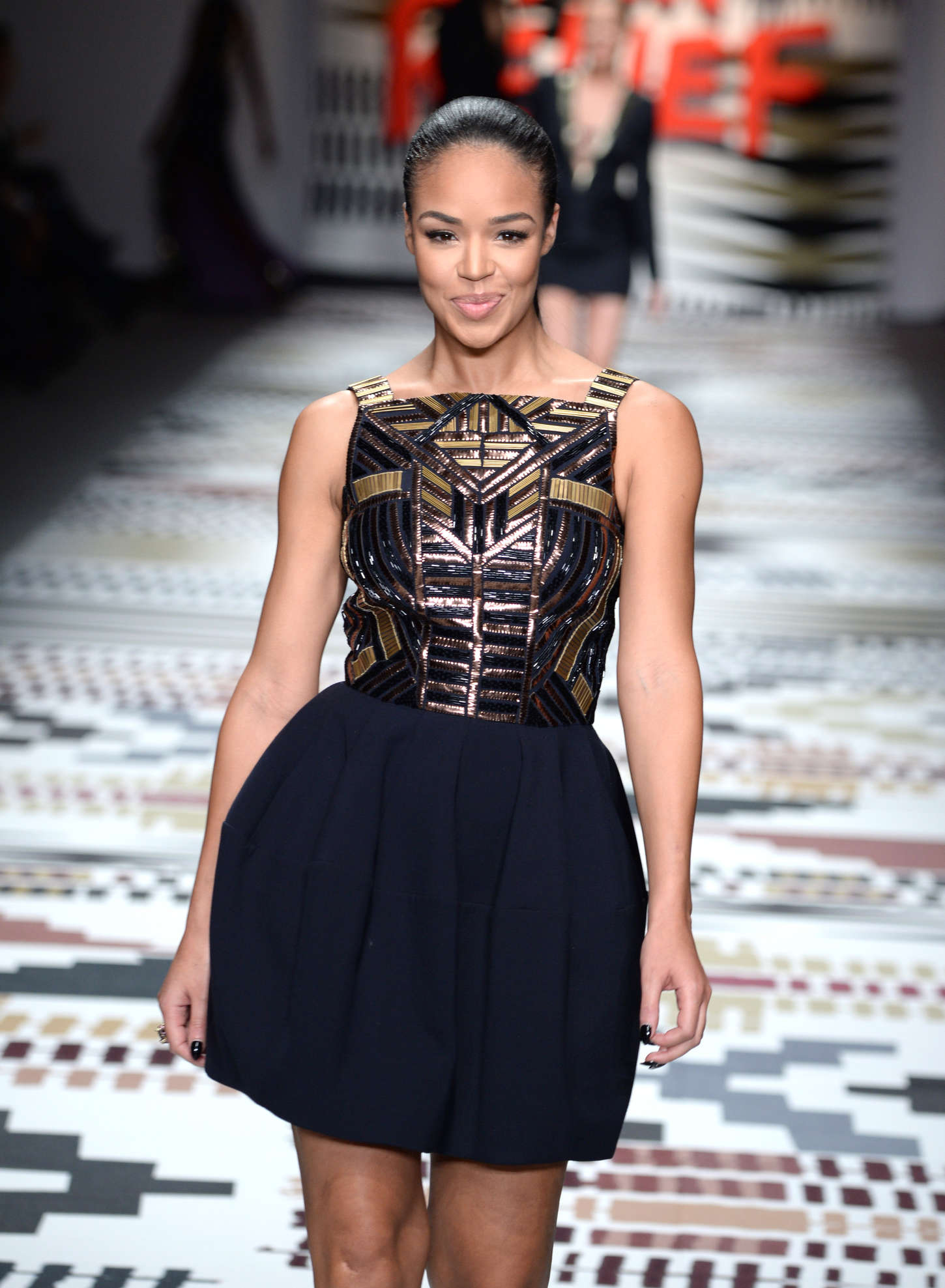 sarah-jane crawford - fashion for relief charity fashion show 2015