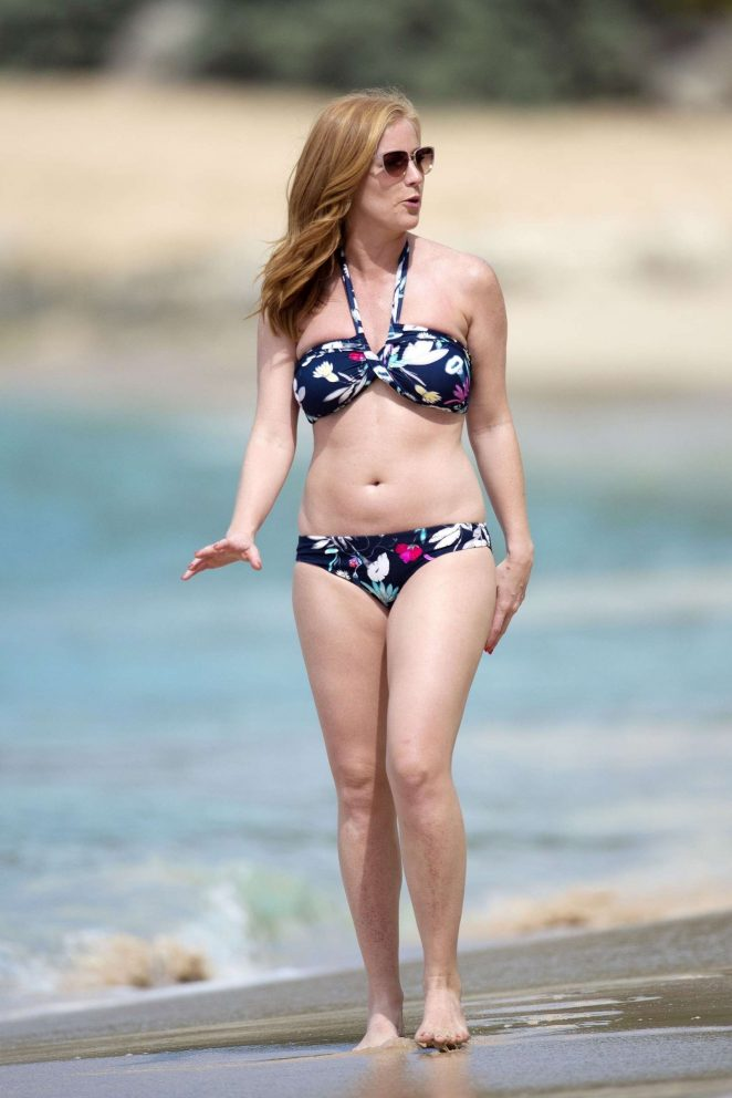 Sarah-Jane Mee in Bikini on the beach in Barbados