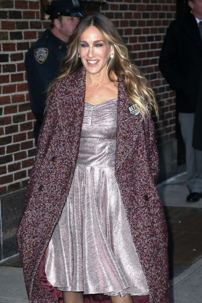 Sarah Jessica Parker – Arrives at The Late Show With Stephen Colbert in NYC