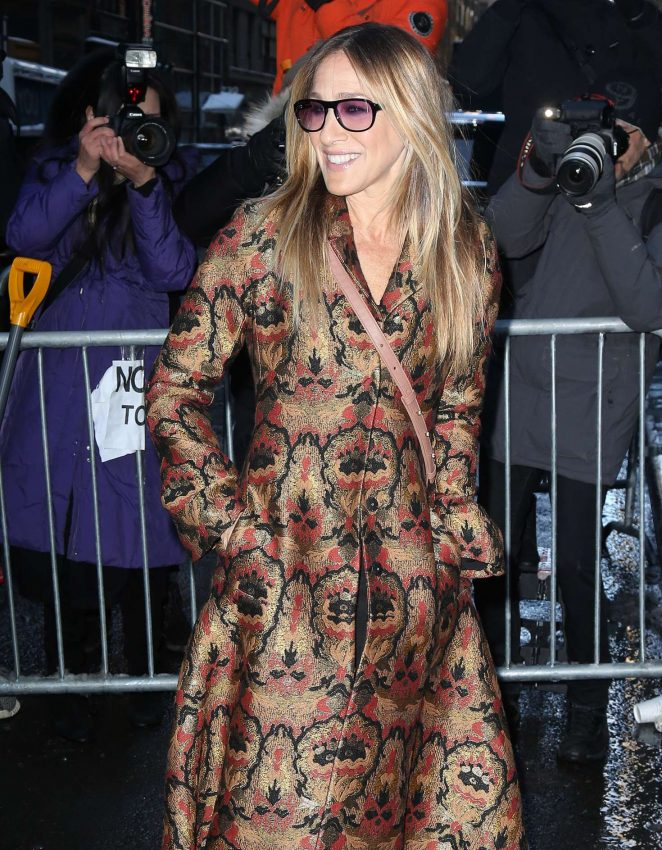 Sarah Jessica Parker - Arriving at the Calvin Klein Collection Show 2017 in NY