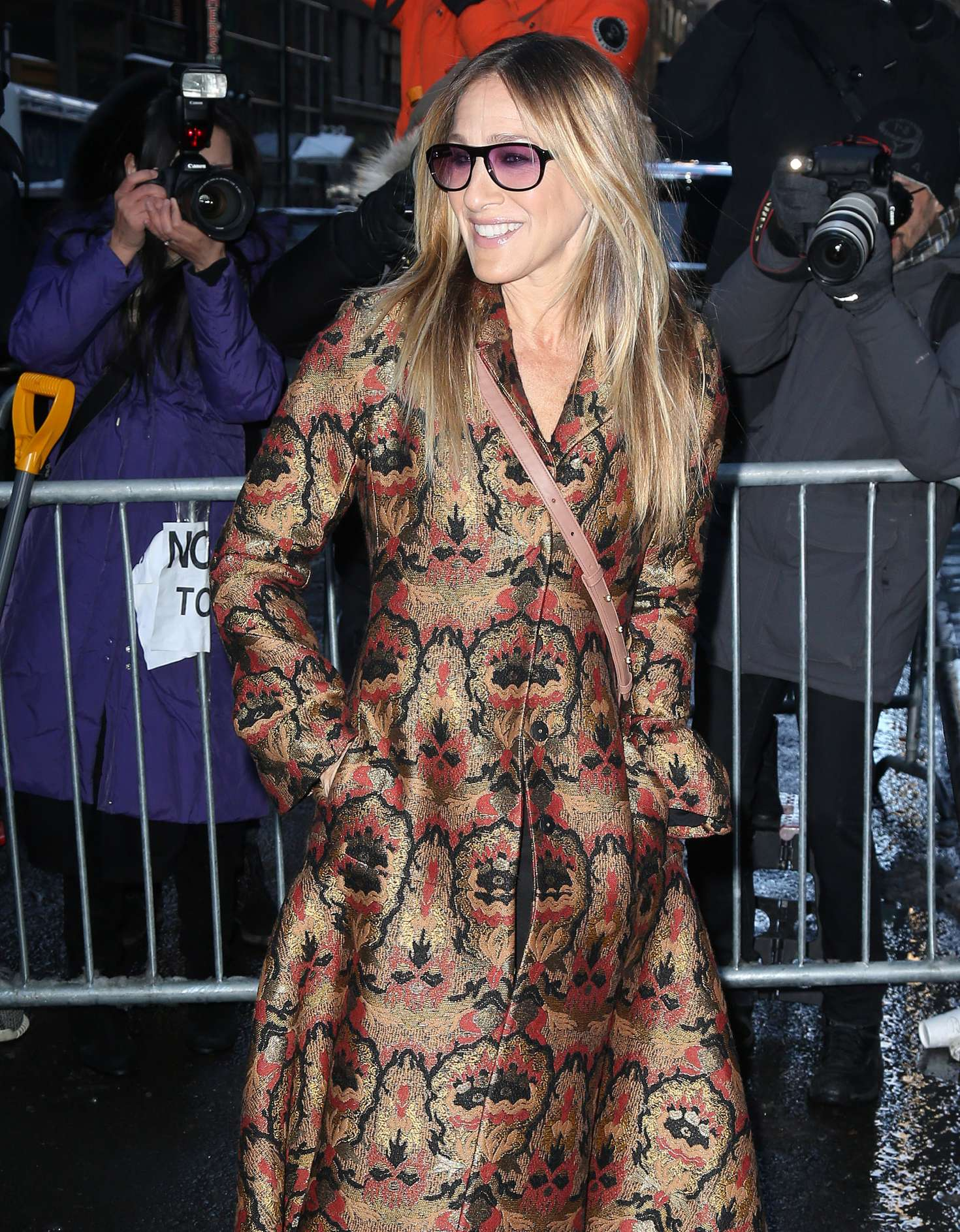 Sarah Jessica Parker Arriving At The Calvin Klein