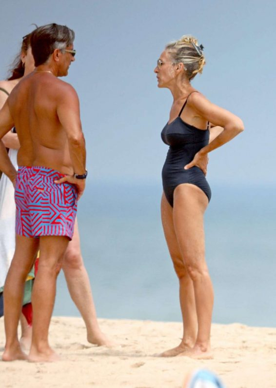 Sarah Jessica Parker in Blue Swimsuit 2019-04