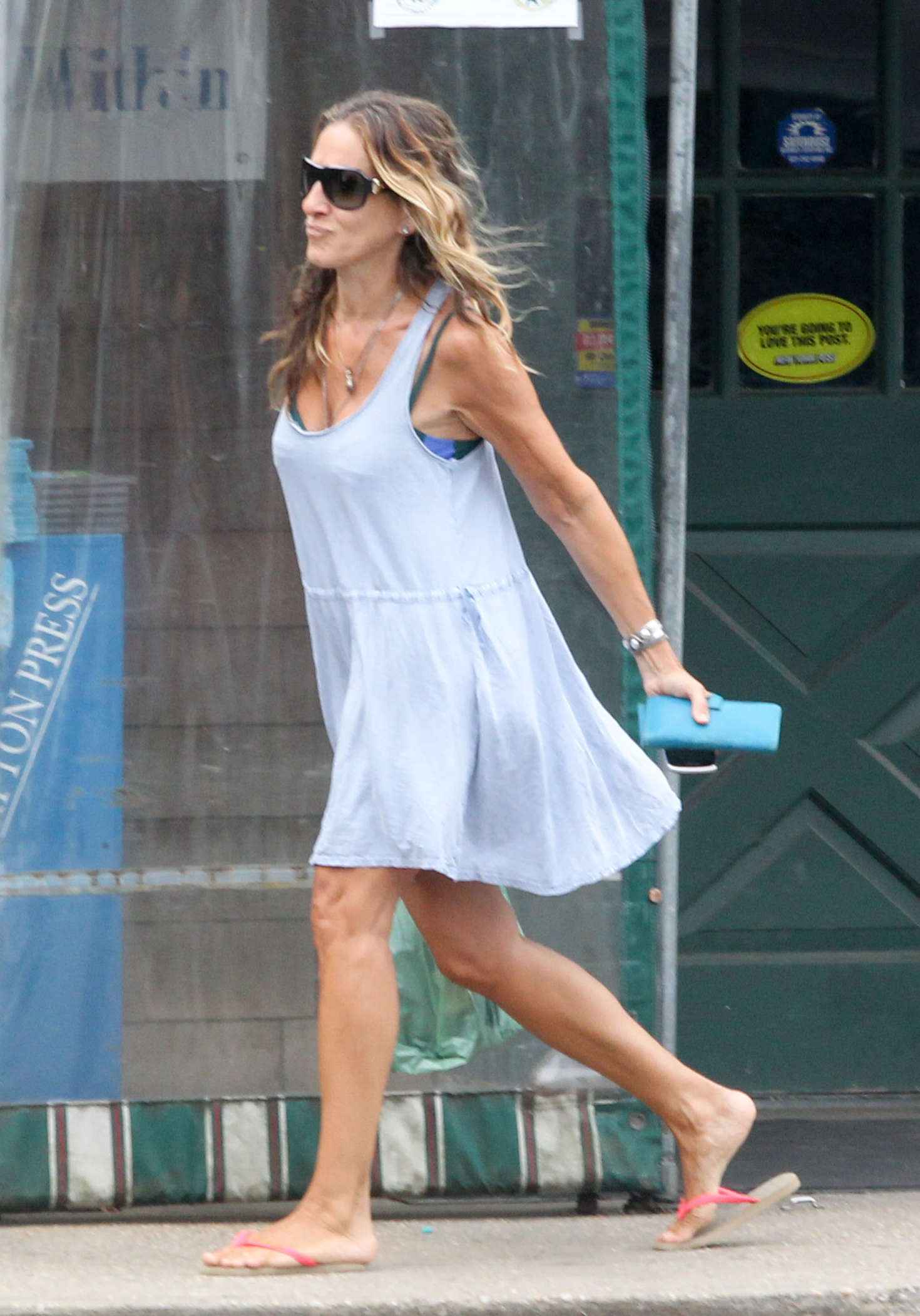Sarah Jessica Parker in Mini Dress out in NY