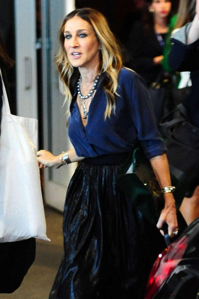 Sarah Jessica Parker – Leaving a Forbes Event in New York