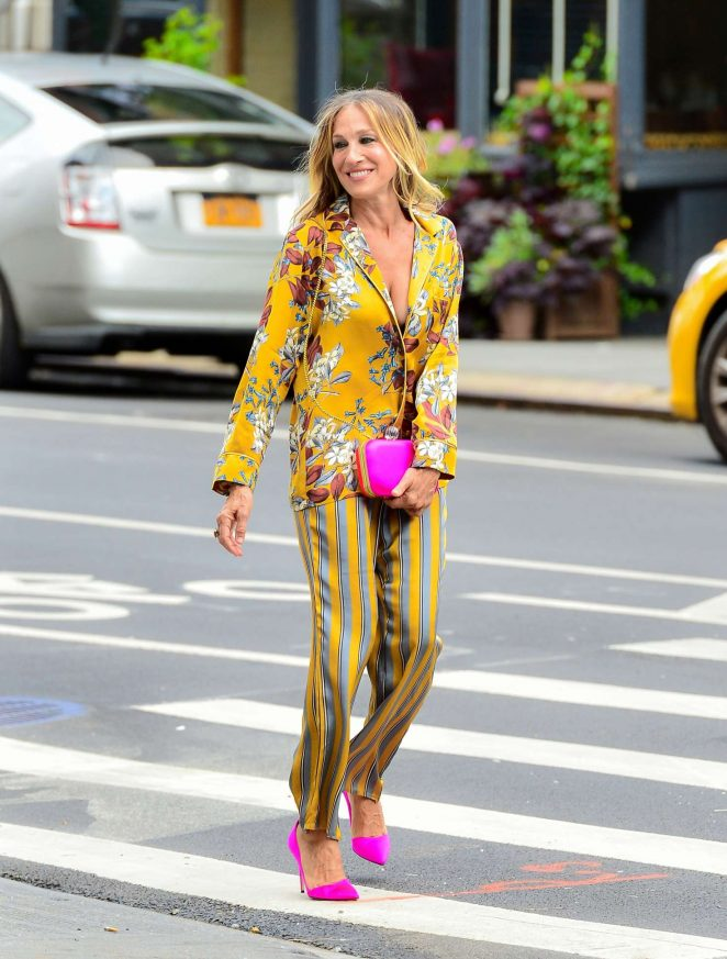 Sarah Jessica Parker on a Photoshoot for Intimissimi in New York City