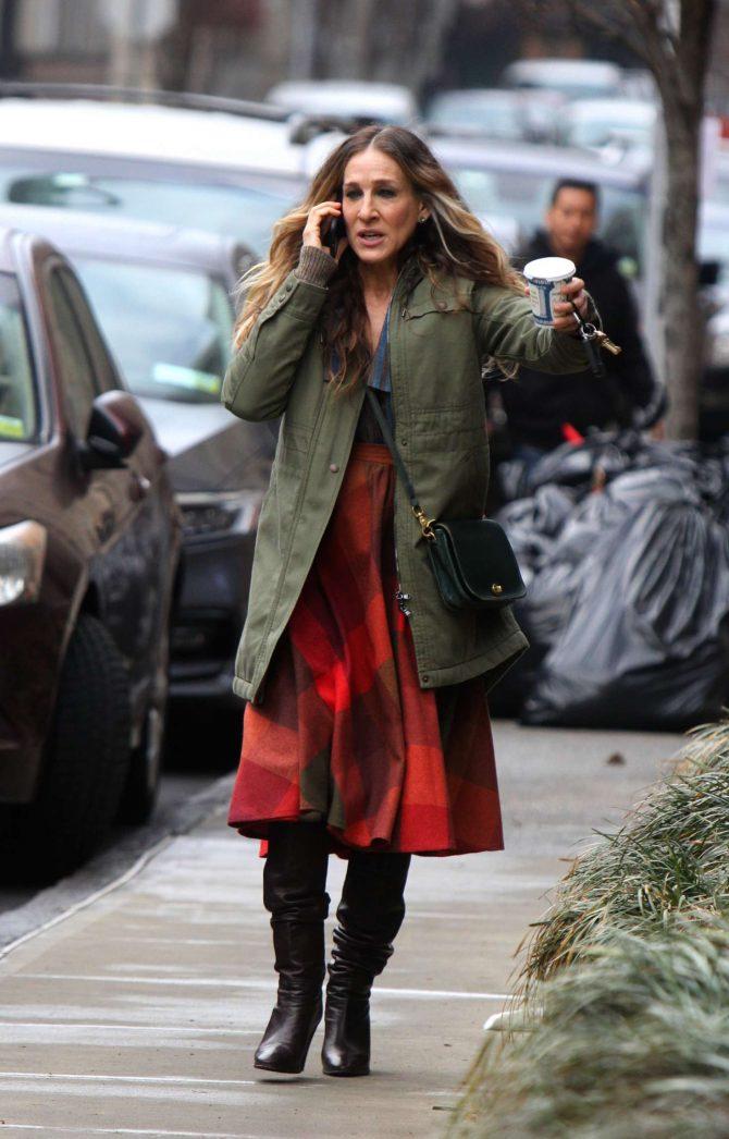 Sarah Jessica Parker on The Set Of 'Divorce' in West Harlem