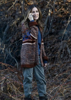 Sarah Jessica Parker on the set of 'Divorce' series in Sleepy Hollow