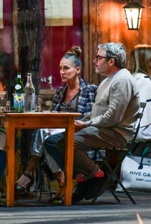 Sarah Jessica Parker - Seen at a dinner in Morandi restaurant in New York