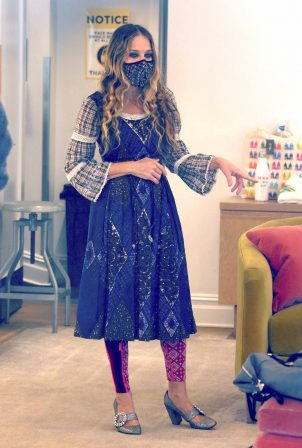 Sarah Jessica Parker - Seen at her store SJP Collections in The Seaport District in NY