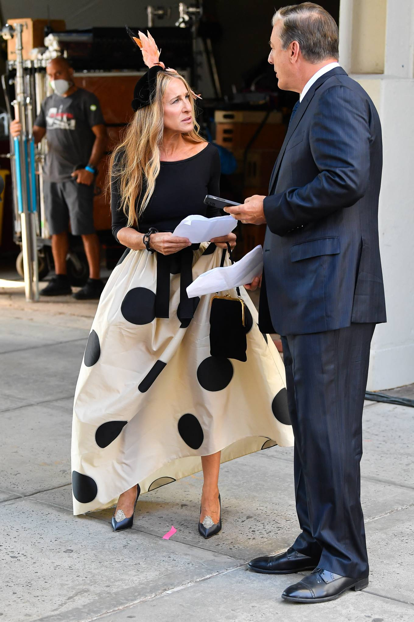 Sarah Jessica Parker - Seen at the set of Sxx And The City Reboot in New York