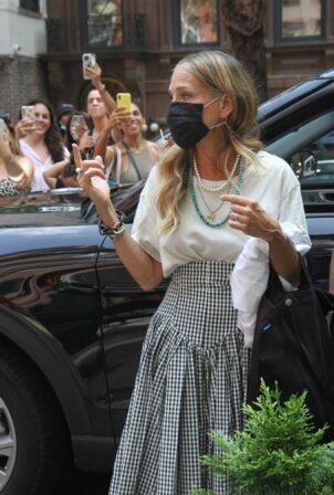 Sarah Jessica Parker - With Cynthia Nixon and Kristen Davis seen in New York