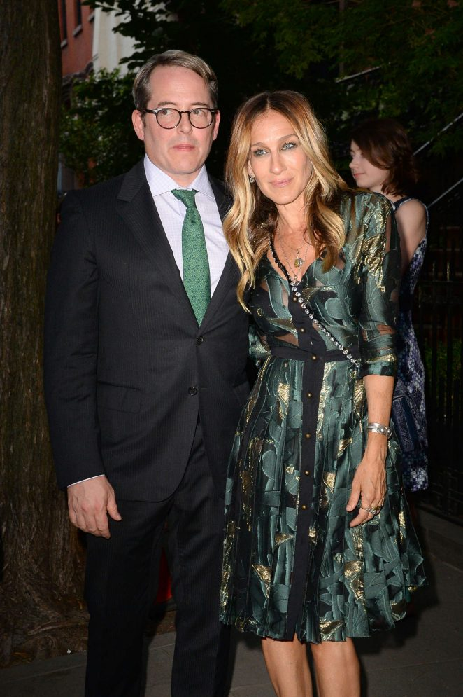 Sarah Jessica Parker with her husband out in New York