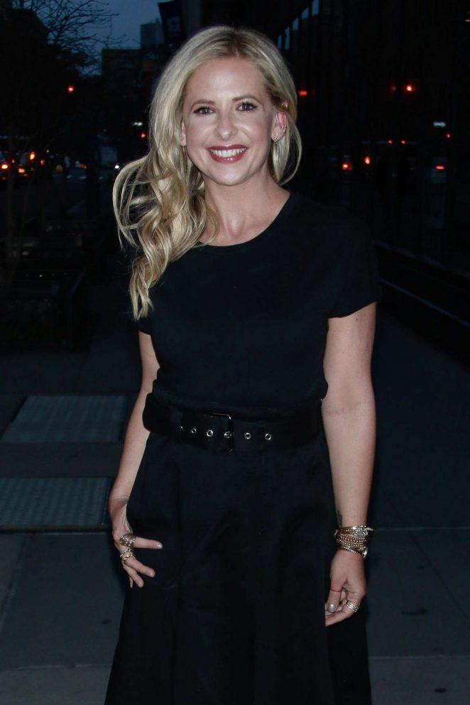 Sarah Michelle Gellar – Arriving at AOL Build Series in New York