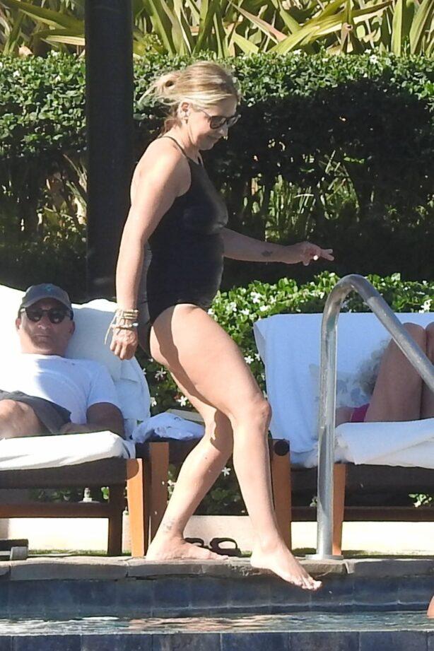 Sarah Michelle Gellar - In black swimsuit in Cabo San Lucas
