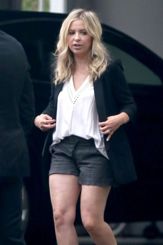 Sarah Michelle Gellar in Shorts out in Los Angeles