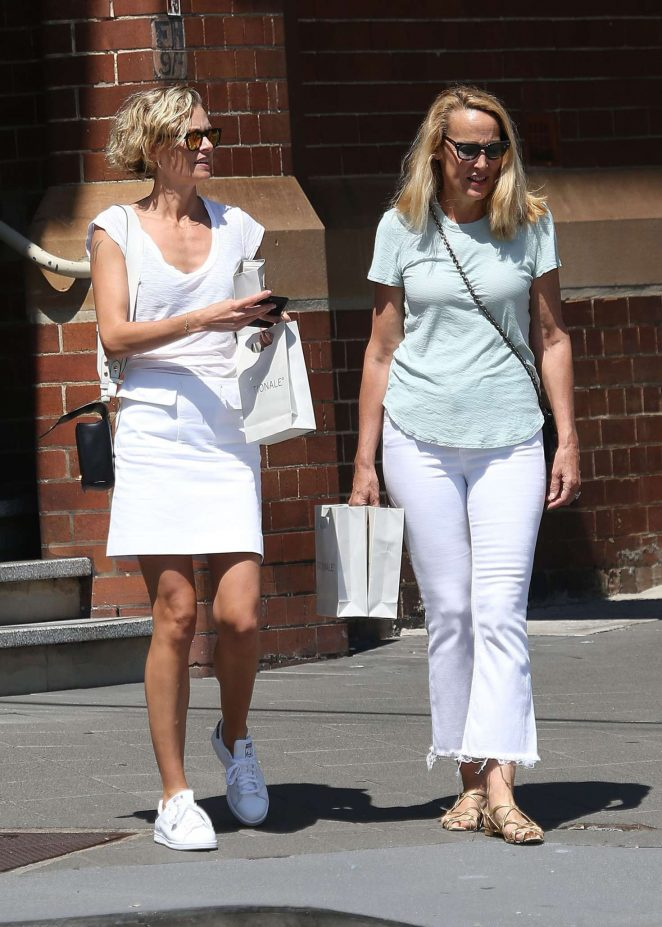 Sarah Murdoch and Jerry Hall shopping in Sydney