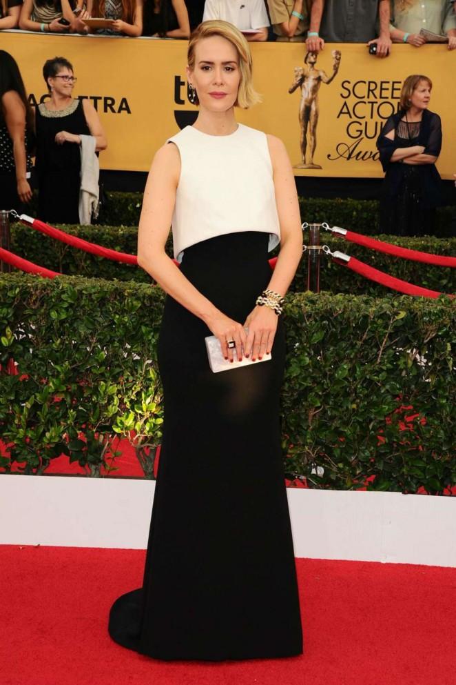 Sarah Paulson 2015 : Sarah Paulson: 2015 SAG Awards -01