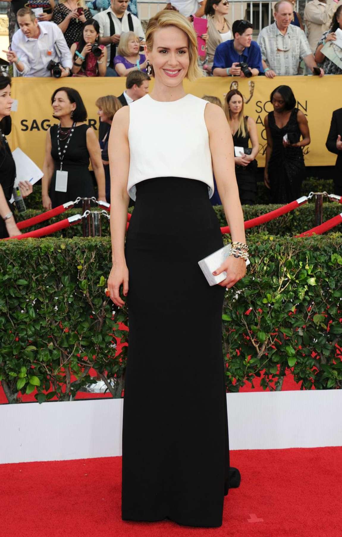 Sarah Paulson 2015 : Sarah Paulson: 2015 SAG Awards -04