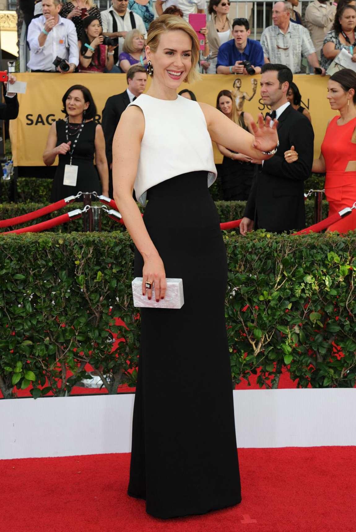 Sarah Paulson 2015 : Sarah Paulson: 2015 SAG Awards -05