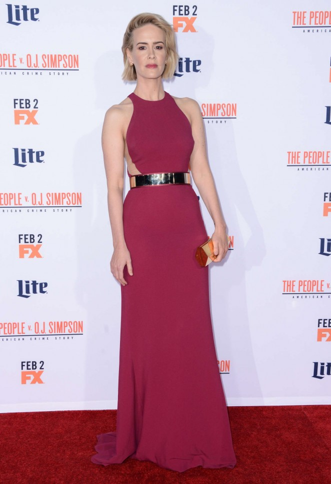 Sarah Paulson: American Crime Story The People v O J Simpson Premiere -13