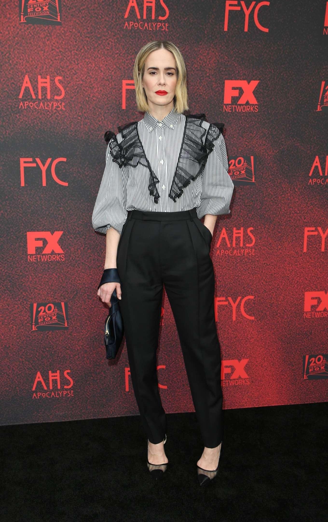 Sarah Paulson at the American Horror Story: Apocalypse